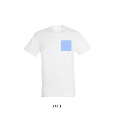 T-shirt personnal. cœur, dos A4 et manche gauche
