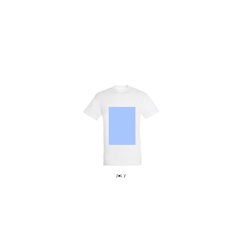 T-shirt personnalisable face A4, dos A3 et manche gauche